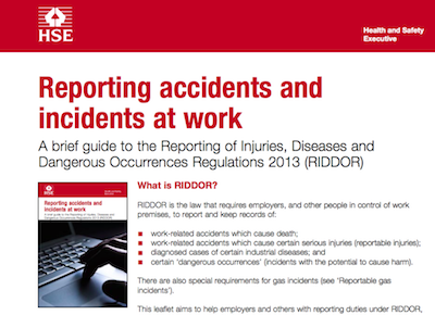 Reporting accidents and incidents at work supporting image