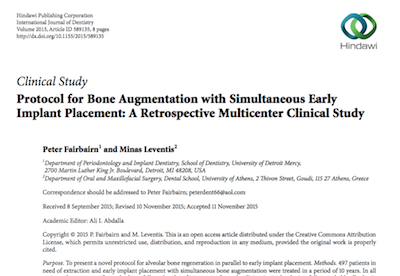 Protocol for Bone Augmentation with Simultaneous Early Implant Placement: A Retrospective Multicenter Clinical Study supporting image