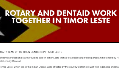 Rotary and Dentaid work together in Timor Leste supporting image