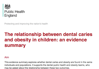 The relationship between dental caries and obesity in children: an evidence summary supporting image