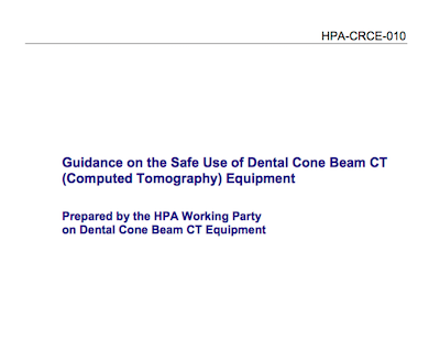 Guidelines on the safe use of dental CBCT supporting image