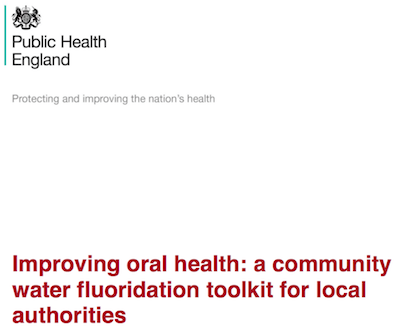 Improving oral health: a community water fluoridation toolkit for local authorities supporting image