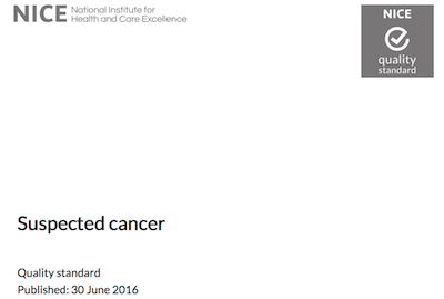 Suspected cancer recognition and referral supporting image