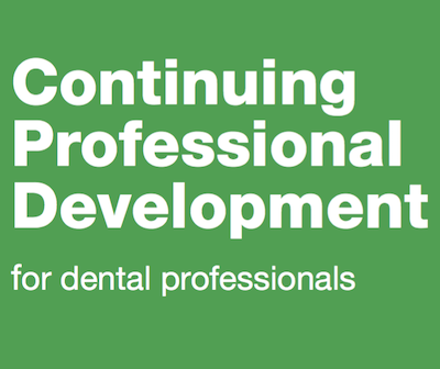 Continuing Professional Development for dental professionals supporting image