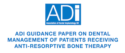 ADI reference paper on dental management of patients receiving bisphosphonates supporting image