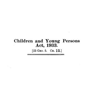 Children and Young Persons Act 1933 supporting image