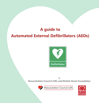 A guide to External Automated Defibrillators (AEDs) supporting image