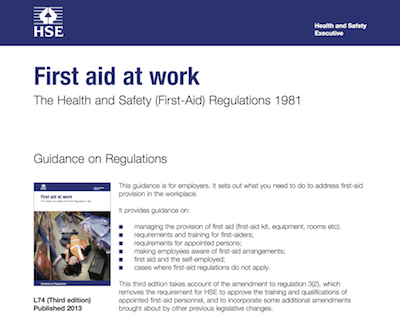 First aid at work The Health and Safety (First-Aid) Regulations 1981 supporting image